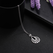 My Shape Crystal Round Pendant Multiple Stainless Steel Necklaces Pendants for Women Girls Best Birthday Gift