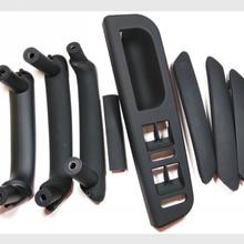 8 шт./компл. черный интерьер дверная ручка с отделкой для Volkswagen Passat B5 внутренняя подлокотник ручной кладки распределительной коробки