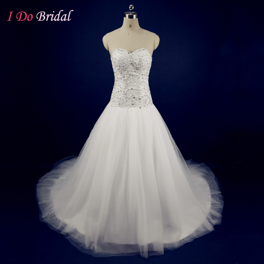 White couture glitter wedding dresses tulle rhinestone for White sparkly wedding dress