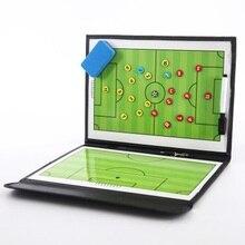 Placa Tática Treinador de Futebol De Treinamento Tático dobrável Magnética  Prancheta Placa Táticas de Treinamento de Futebol Jog. b5238e6461268