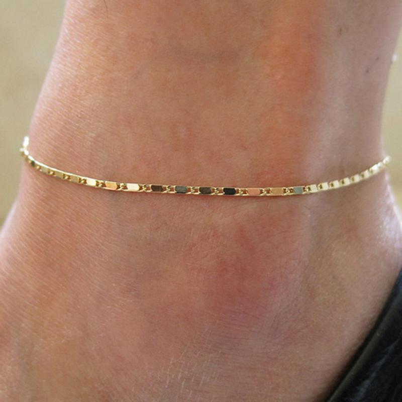 Regalo dei monili caviglia del piede cavigliera braccialetto d/'oro di