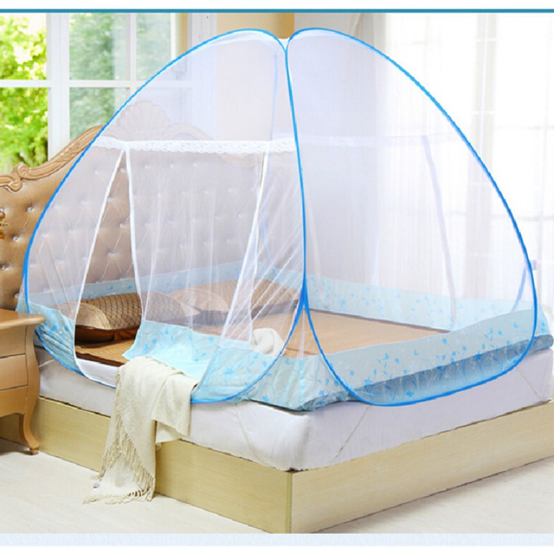 Mosquito Net For Bed Free Installation Folding Single Door Netting Mongolia Bag Nets On The