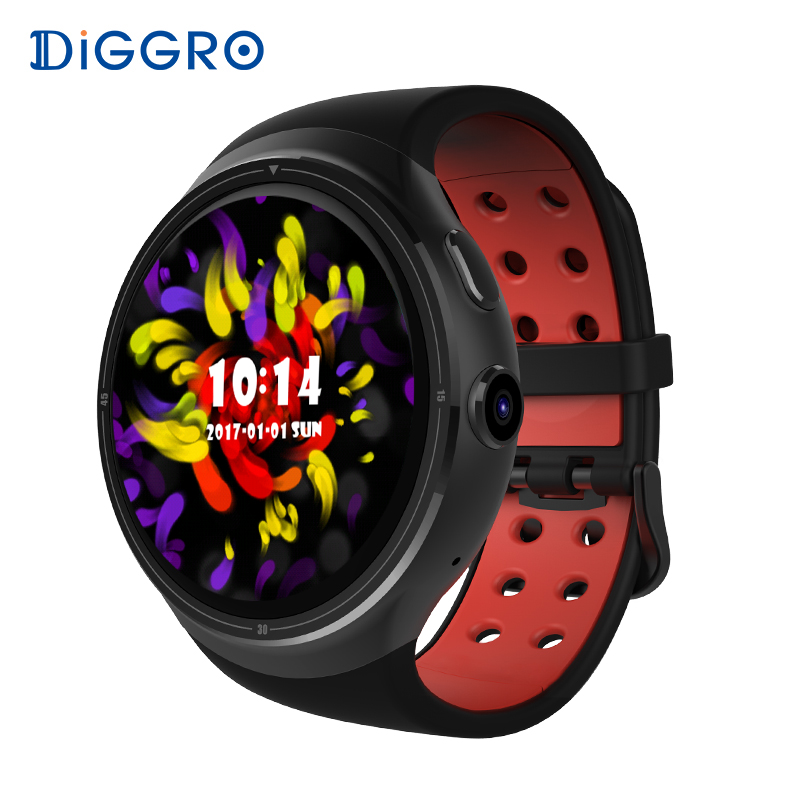 Diggro DI06 Smart Uhr 1 GB 16 GB Android 5.1 MTK6580 Herz Rate Smart Uhr Bluetooth WIFI GPS SIM Smartwatch Für Android iOS