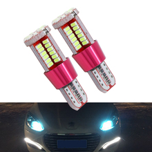 2x T10 LED Lamp W5W Canbus Parking Light for Peugeot 206 207 307 308 407 2008 3008 Auto Interior Lights White Crystal Blue