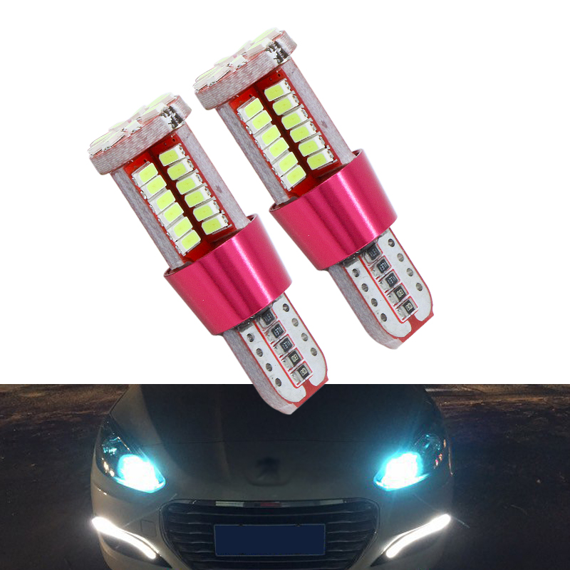 2x T10 <font><b>LED</b></font> Lamp W5W <font><b>LED</b></font> Canbus Parking Light for <font><b>Peugeot</b></font> 206 207 307 308 <font><b>407</b></font> 2008 3008 Auto Interior Lights White Crystal Blue image