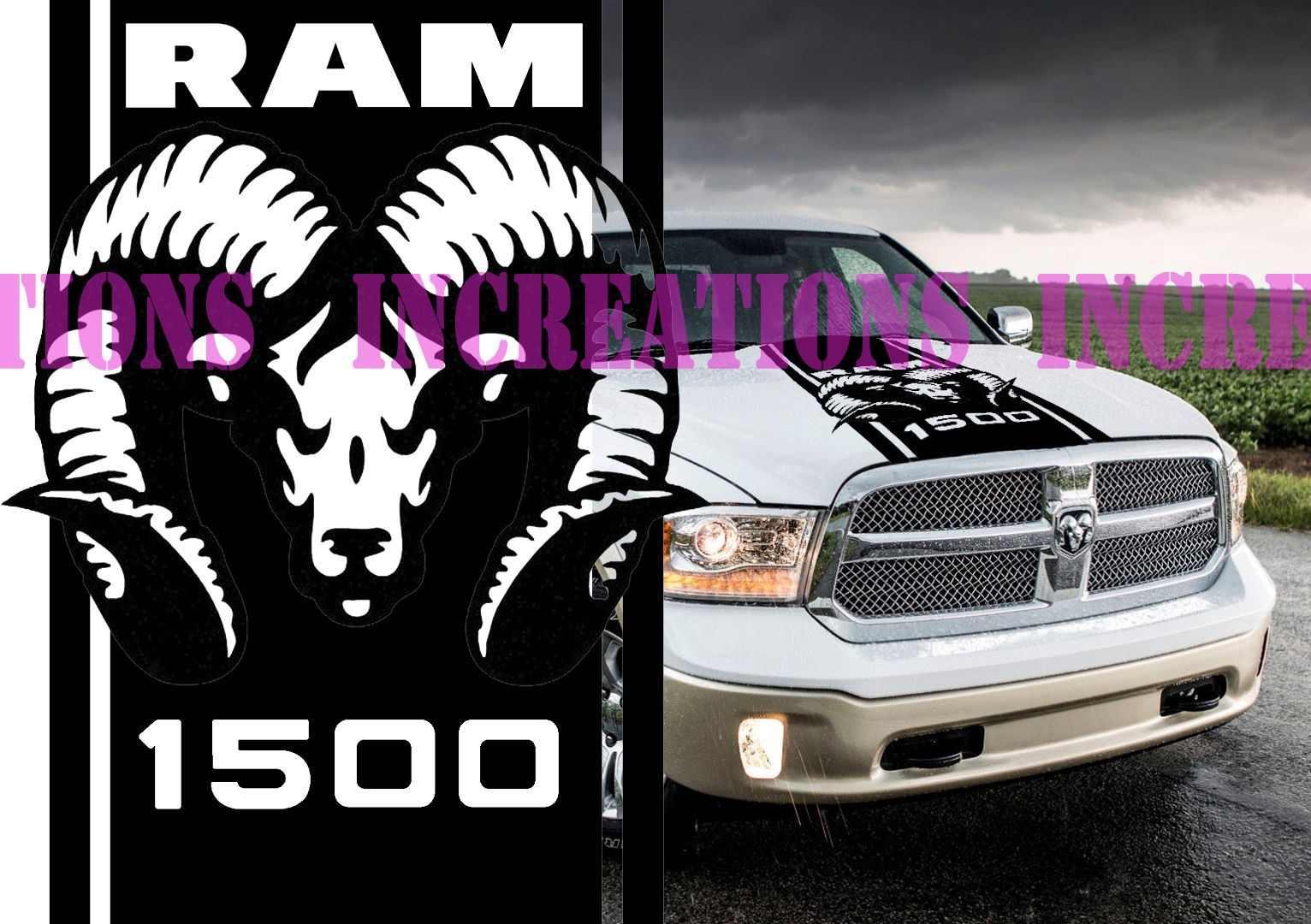 For Universal Hemi Dodge Ram 1500 Hood Stripe Truck Decals Mopar Stickers Vynil Car Graphics Car Stickers Aliexpress