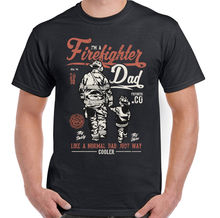Firefighter Dad Mens Funny Fireman T-Shirt Fire Brigade Service Sam Fathers Day T Shirt O-Neck Fashion Casual High Quality