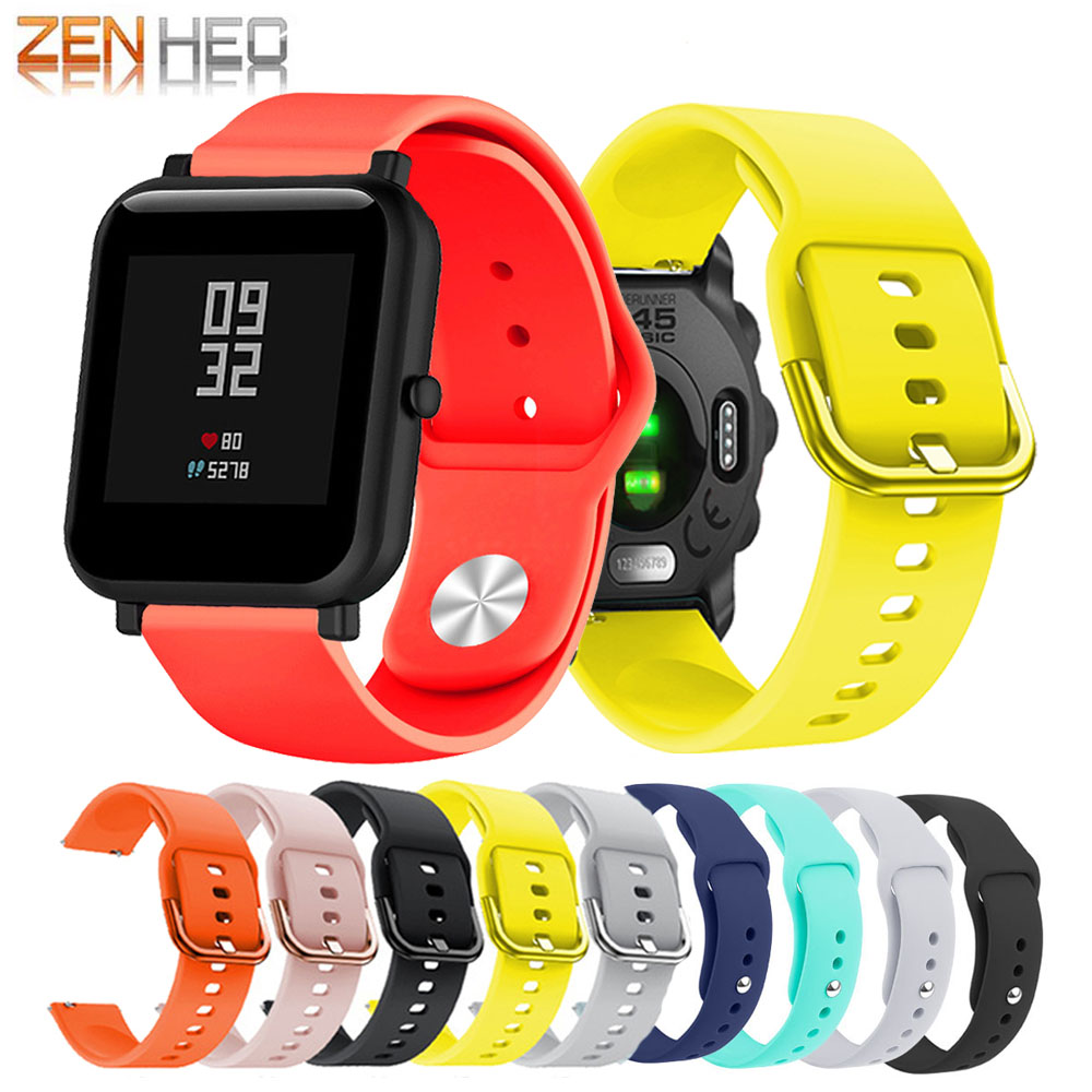 High Quality Silicone Replacement Wrist Watch <font><b>Band</b></font> Strap for Xiaomi Huami Amazfit Bip Lite Wristband For <font><b>Garmin</b></font> Forunner 645/245 image