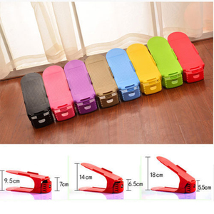 Image 2 - 8pcs Durable Adjustable Shoe Organizer Footwear Support Slot Space Saving Cabinet Closet Stand Shoes Storage Rack Shoebox