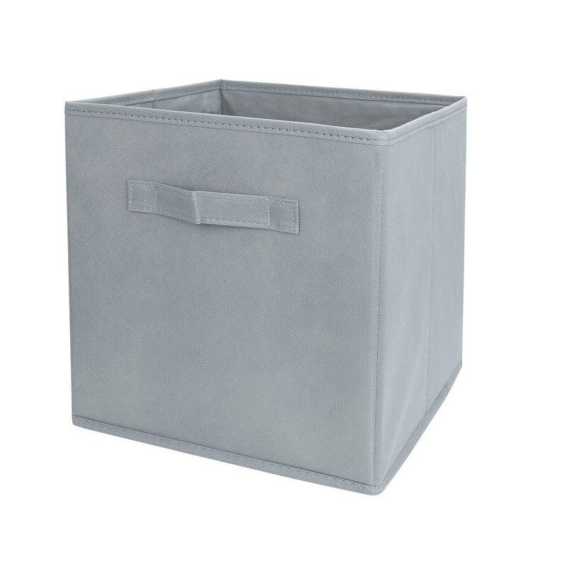 Perfect Grey Fabric Cube Storage Bins, Foldable, Premium Quality Collapsible Baskets,  Closet Organizer Drawers