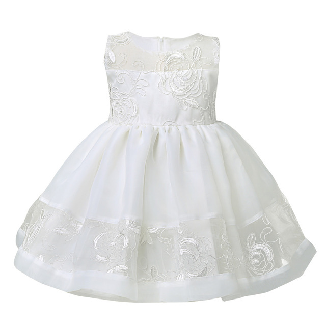Cute Ivory Baby Girl Christening Dress