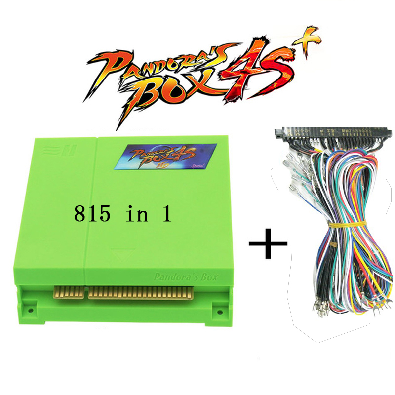 815 in 1  pandora box 4s plus  jamma arcade multi game board pcb multigame card cga & vga & HDMI  output hdmi vga pandora box 4s arcade game board 815 in 1 with 28 pin harness for arcade mechine diy arcade kit