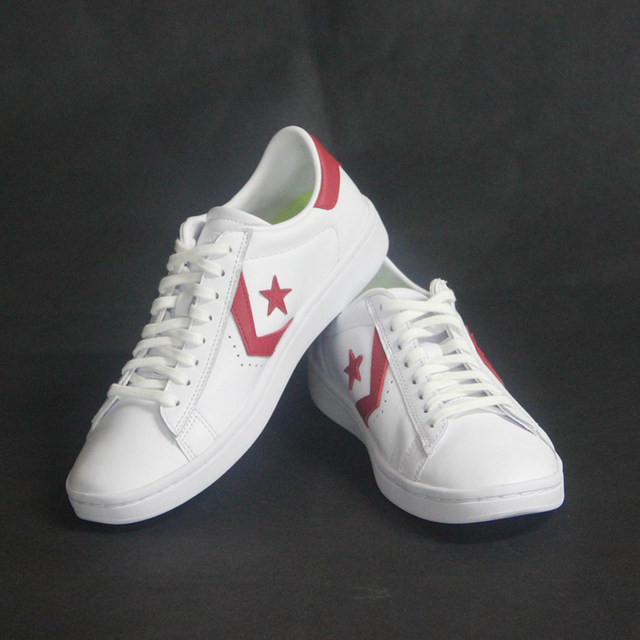 2017 new original Converse Star Player Leather women's sneakers white color Leather Skateboarding Shoes 555930C