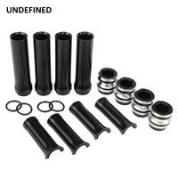 10 Gauge Black Pushrod Tube Covers Lower for Harley Touring Twin Cam 1999 2017 Electra Glide Fat Boy Fatboy 1999 2017 UNDEFINED