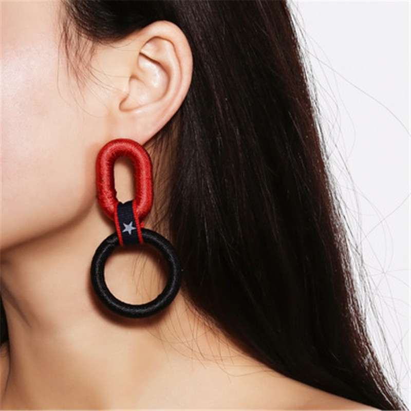 kuniu resin drop earrings for women round shape casual sporty style outdoor party banquet occasion brand fashion jewelry