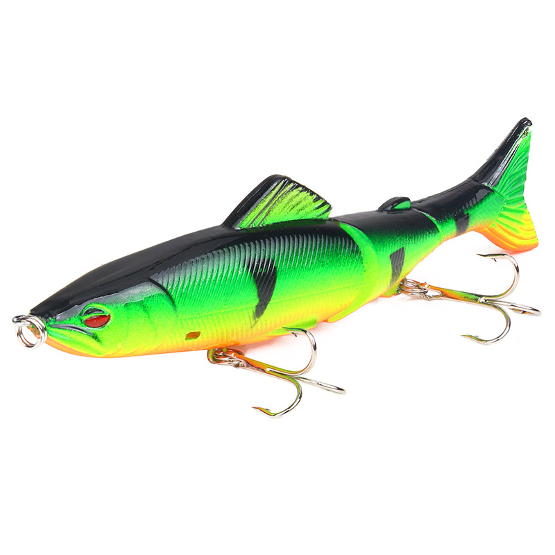 1PCS 18 G/13 Cm Fishing Lures Lure For Fishing Lure Color 3 Segments Hard Lure With Wobblers 6 # High Carbon Steel Hook 3D Eye
