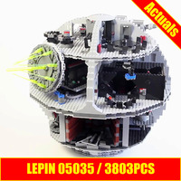 ZXS New LEPIN 05035 3803Pcs Star Wars Death Star Model Building Figures Blocks Compatible 10188 Ship