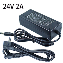 DC 24V 2A LED Power Switching Supply Adapter AC100-240V to DC24V 48W Transformer for Led Strip EU UK US AU Plug