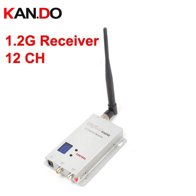 1.1G 1.3G alıcı 12 ch için LCD ile drone 1.2G kablosuz kamera AV alıcısı, kablosuz 1.2G verici FPV alıcı