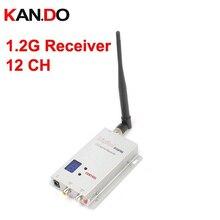 1,1G 1,3G empfänger 12 ch mit LCD für drone 1,2G Drahtlose kamera AV receiver, wireless 1,2G transceiver fpv empfänger