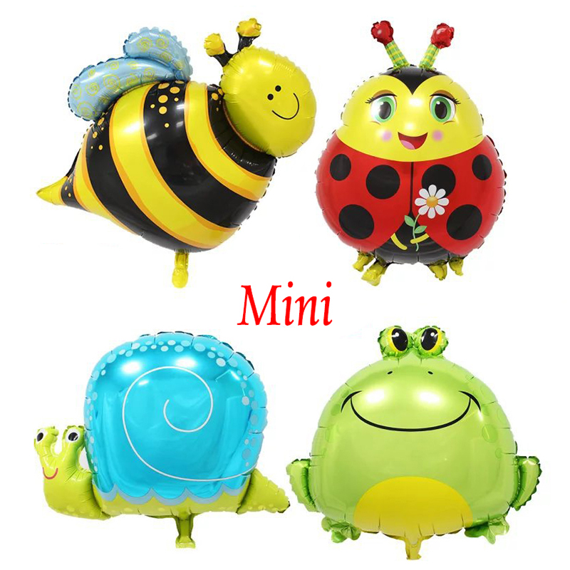 Buy Mini Cartoon Ladybug Honeybee Snail Frog Foil Balloon Small Animal Air Balloon for Birthday Party Decoration or as Kids Toy Gift for $1.09 in AliExpress store