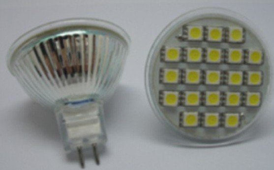MR16 SMD LED spotlight,16pcs 5050 SMD LED,3W