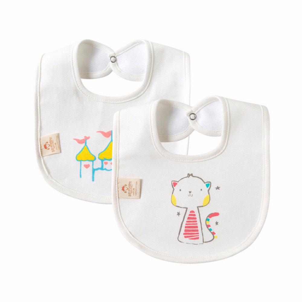 Mother & Kids Cute Baby Bibs Waterproof Boy Girl Unisex Print Animal Flower Bib Bebes Cotton Toddler Bids Baby Food Bib Newborn Bibs & Burp Cloths