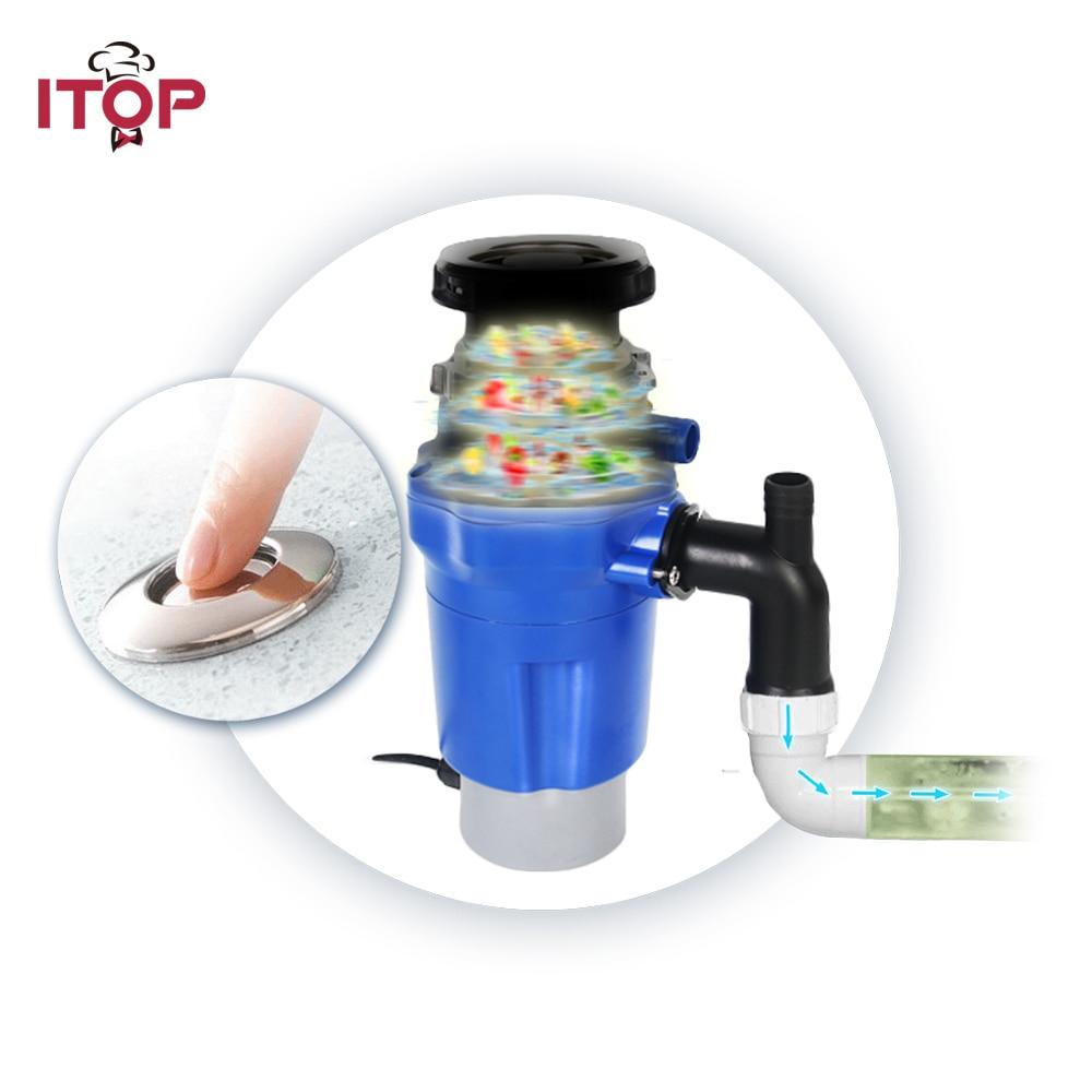 ITOP Kitchen garbage processor disposal crusher food waste disposer Stainless steel Grinder material kitchen sink appliance цена