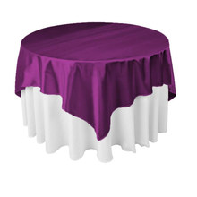 145cm x 145cm Square Satin Tablecloth Table Cover 21Colors for Wedding Party Restaurant Banquet Decorations(China)