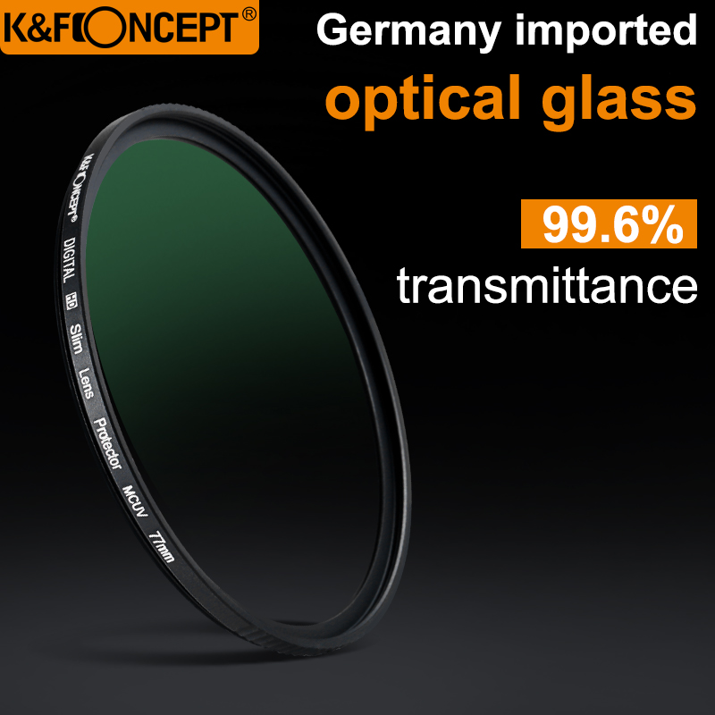 K/&F/ Concept/ 52mm/ UV/ Protection/ Filter,18-Layer/ Multi/ Coated/ Lens/ Filter/ Nanotech/ Coatings,Ultra-Slim