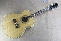Frete grátis Top Quality Burlywood madeira Maciça 43 polegadas 12 cordas da guitarra acústica J200 acústico da guitarra elétrica 14815