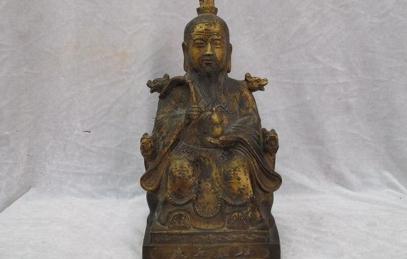 China buddhism Taoism Bronze Copper TaiShangLaoJun Taoist buddha Statue