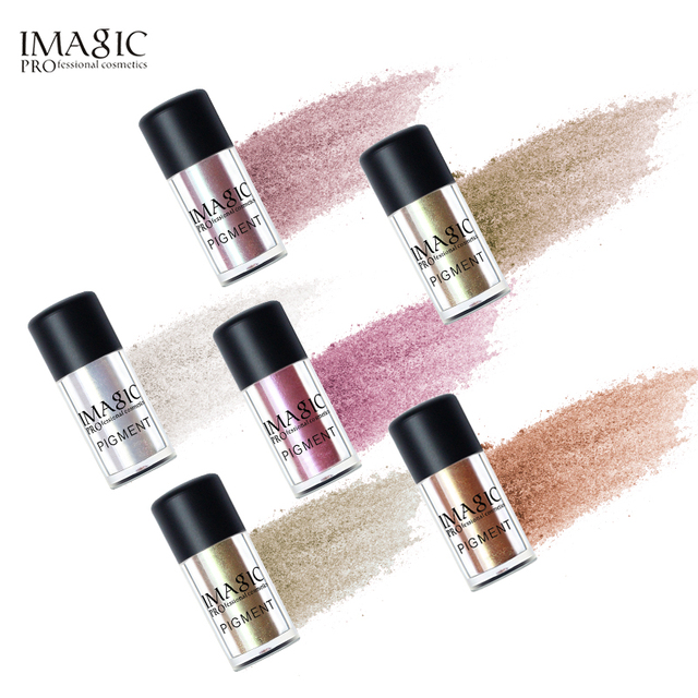 IMAGIC New Arrival Glitter Eyeshadow Metallic Loose Powder Waterproof Shimmer Pigments Colors Eye Shadow Makeup Cosmetics 4