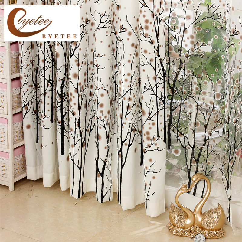 Fashion White Curtain Window Cortina Bedroom Curtains For Living Room Kitchen