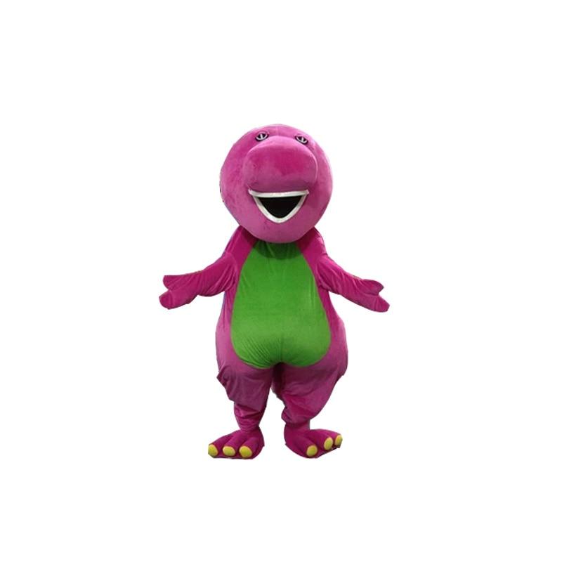 Высокое качество взрослых Барни мультфильм Маскоты костюмы на взрослых Размеры Бесплатная доставка