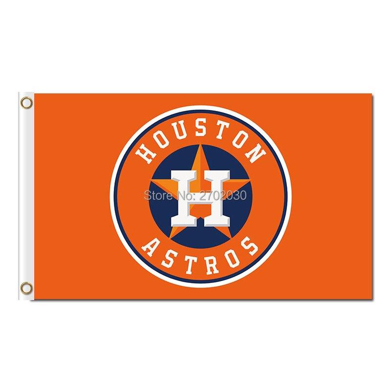 H disegno houston astros baseball bandiera super fan squadra bandiere striscioni major league world series champions banner orange blue star