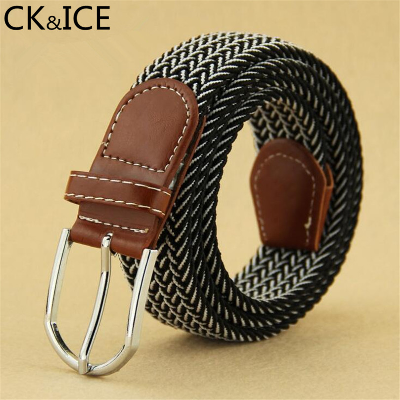 CK&ICE Luxury Casual stretch Women jeans Belts Casual Pin Buckle Unisex Fashion Belts Weave Elastic Belts Men Knitted Belt