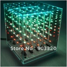 lwh Strong-Willed Hot Smd 1206 3 In 1 11*11*14cm Laying 3d Led Cube Light,led Display For Disco Party,exhibition,bar Etc