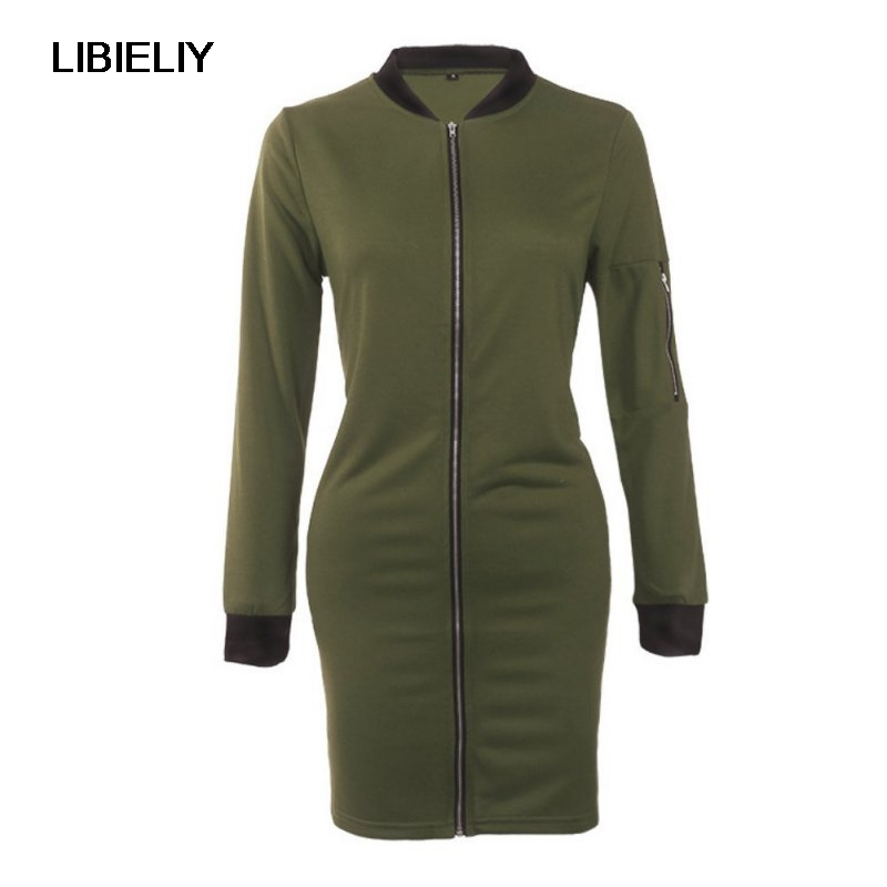 Nice New Autumn Winter Fashion Women Coat Casual Long Sleeve   Basic     Jacket   Cool Zipper Outwear Clothing 7444