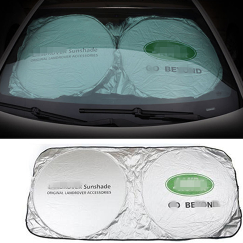 1pc Car Sunshade Front Rear For Land Rover Defender 110 90 Discovery Freelander LR2 LR3 LR4 Range Rover Evoque Sport car styling custom fit car floor mats for land rover discovery 3 4 freelander 2 sport range sport evoque 3d car styling carpet liner ry217