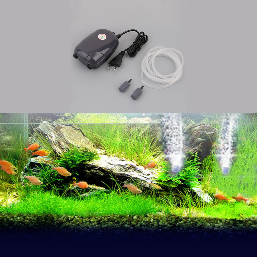 6dc73a5416f 2018 Professional Aquarium Fish Tank Pond Pump Hydroponic Oxygen 2 Air  Bubble Disk Stone Aerator with Stable Performance