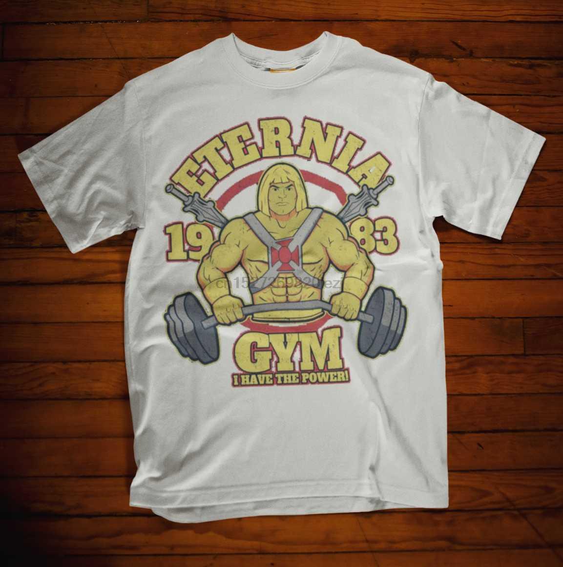He Man Футболка Eternia Gym power tv Skeletor тренировочная футболка 80s 90s
