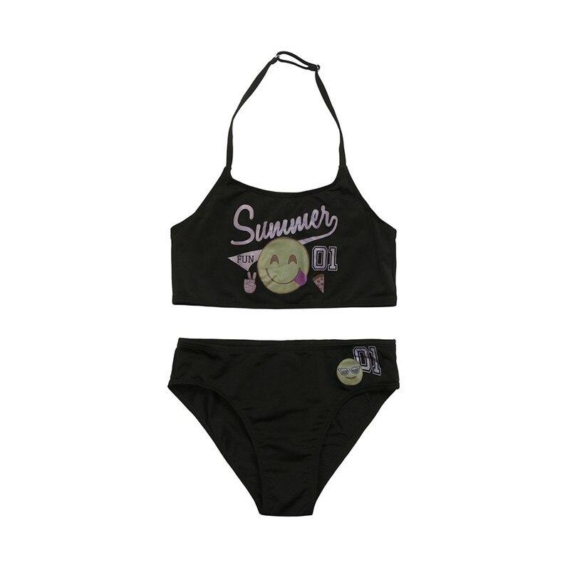 2 Piece Kid Chidren Baby Girl Letter Smile BIkini Set Classcial Swimwear Swimsuit Hot Sale Bathing swimming Clothes