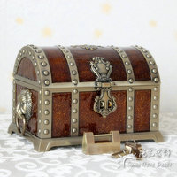 Europe Vintage large size Pirates of the Caribbean Treasure jewelry box organizer Metal Jewelry Case Jewelry storage box Z080
