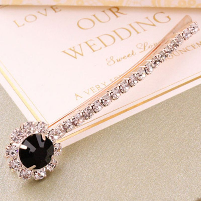 Vintage Palace Style Hair Styling Bobby Pin Ladies Bridal Wedding Decorative Jewelry Hair Clip Glitter Rhinestone Curved Hairpin in Hair Jewelry from Jewelry Accessories