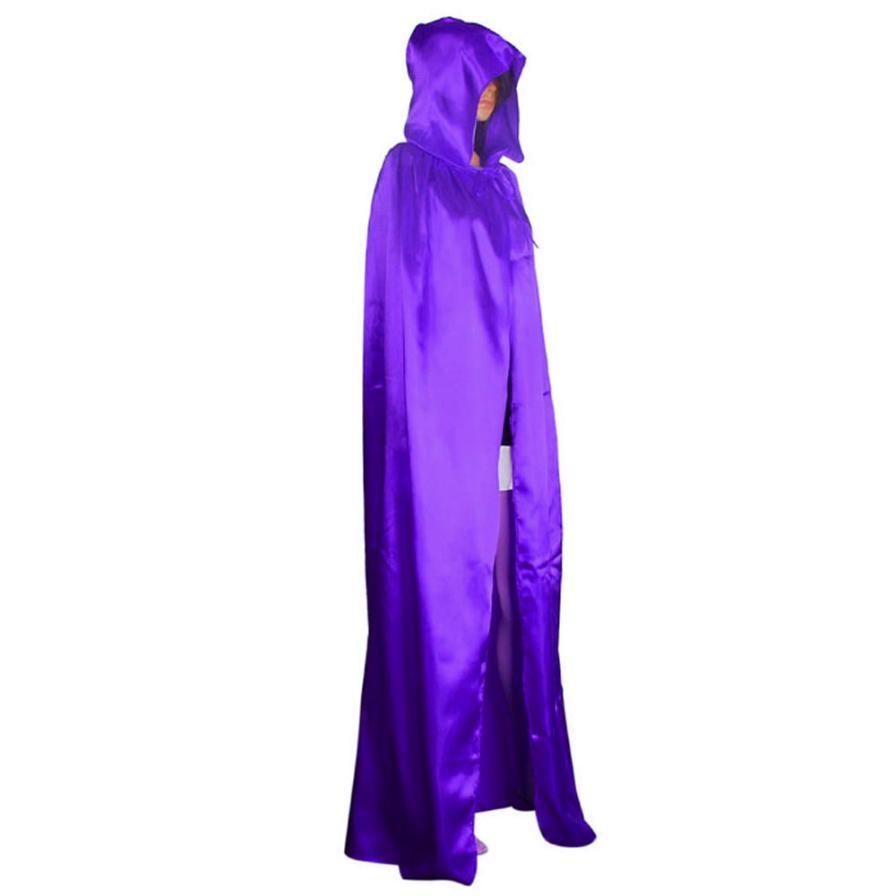 Keren Wanita Unisex Mantel Berkerudung Jubah Mantel Wicca Robe - Kostum - Foto 5