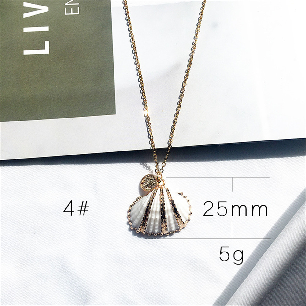 New New Marine Life Shell Conch Pendant Nekclace For Women Gold Necklaces Pendants Female Ocean Jewelry in Pendant Necklaces from Jewelry Accessories