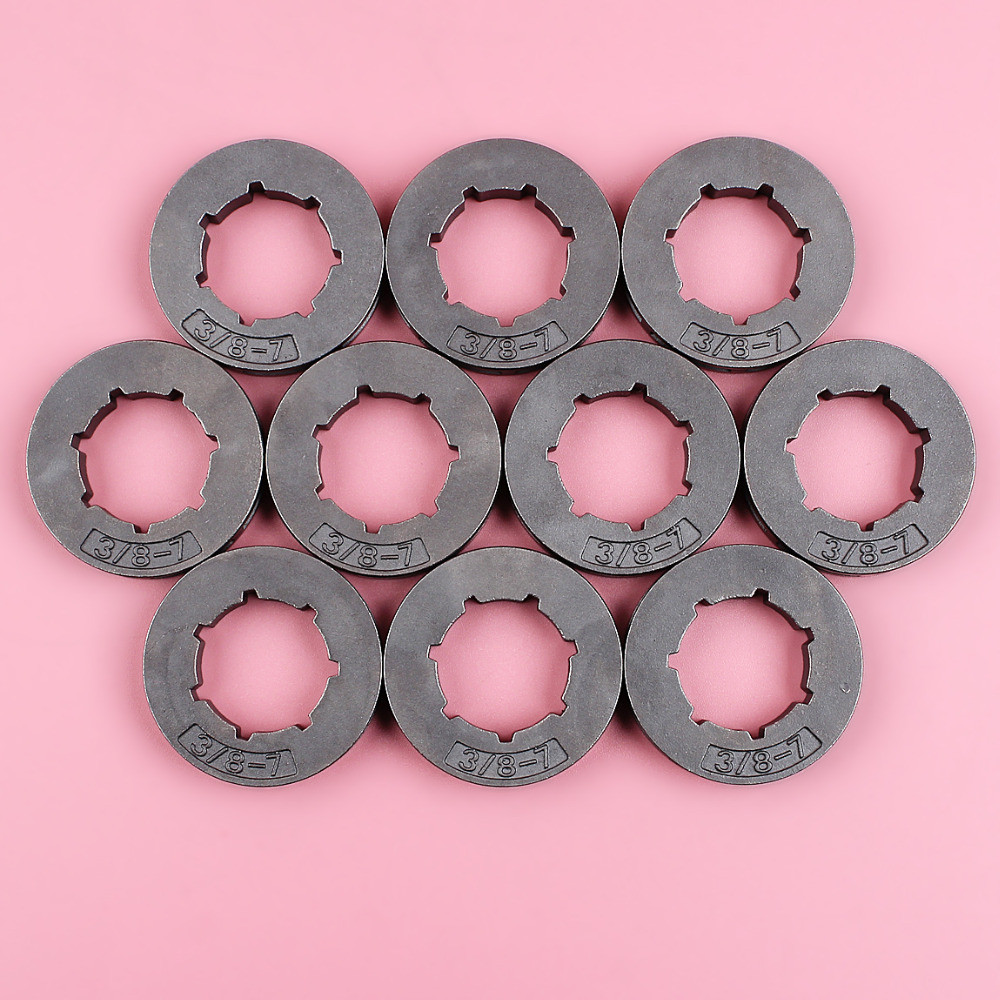 10pcs/lot 3/8 7 Teeth Sprocket Rim For Stihl 034 036 039 MS290 MS310 MS360 MS390 Chainsaw Small Spline ID 19mm