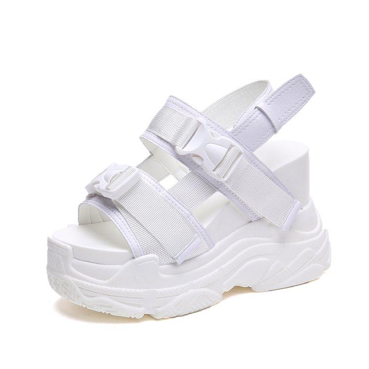 HTB1mLsjbjDuK1Rjy1zjq6zraFXaV Fujin High Heeled Sandals Female Increased Shoes Thick Bottom Summer 2019 New Women Shoes Wedge with Open Toe Platform Shoes