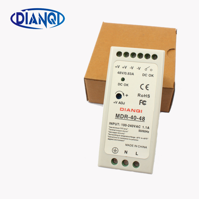 High quality din rail power supply switch MDR-40-48  40W 48V output DIANQI Switching